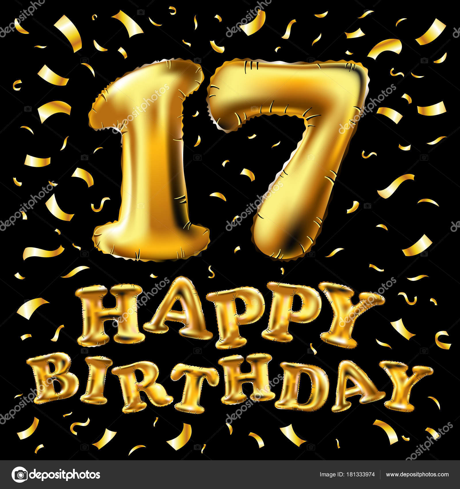 grattis 17 år Vector glädje årsjubileum med 17 år, Grattis på födelsedagen  grattis 17 år