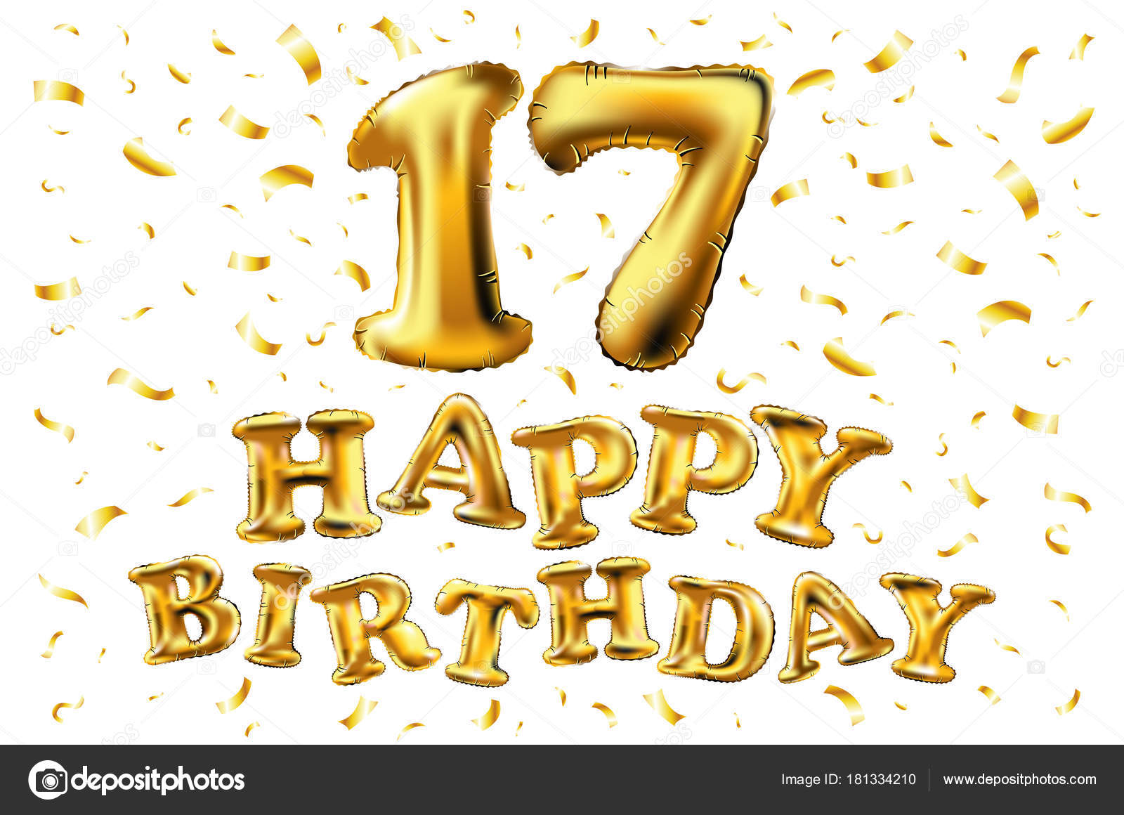 17 jaar jarig 17 jaar verjaardag, gelukkige verjaardag vreugde viering. 3D  17 jaar jarig
