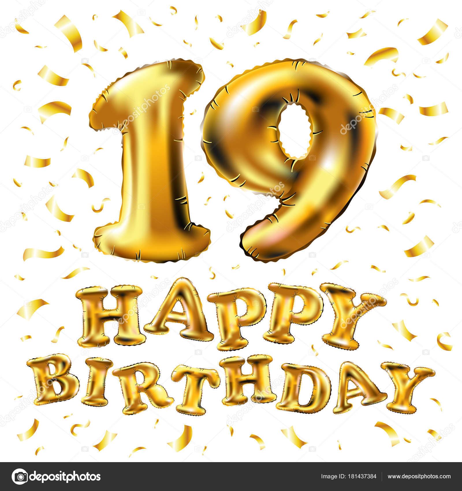 verjaardag 19 jaar 19 jaar verjaardag, gelukkige verjaardag vreugde viering. 3D  verjaardag 19 jaar