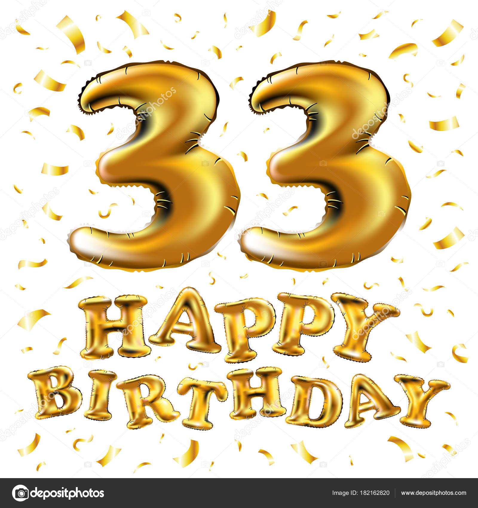 33 Jaar Verjaardag Uitnodiging Kaart Viering Sjabloonontwerp 33e