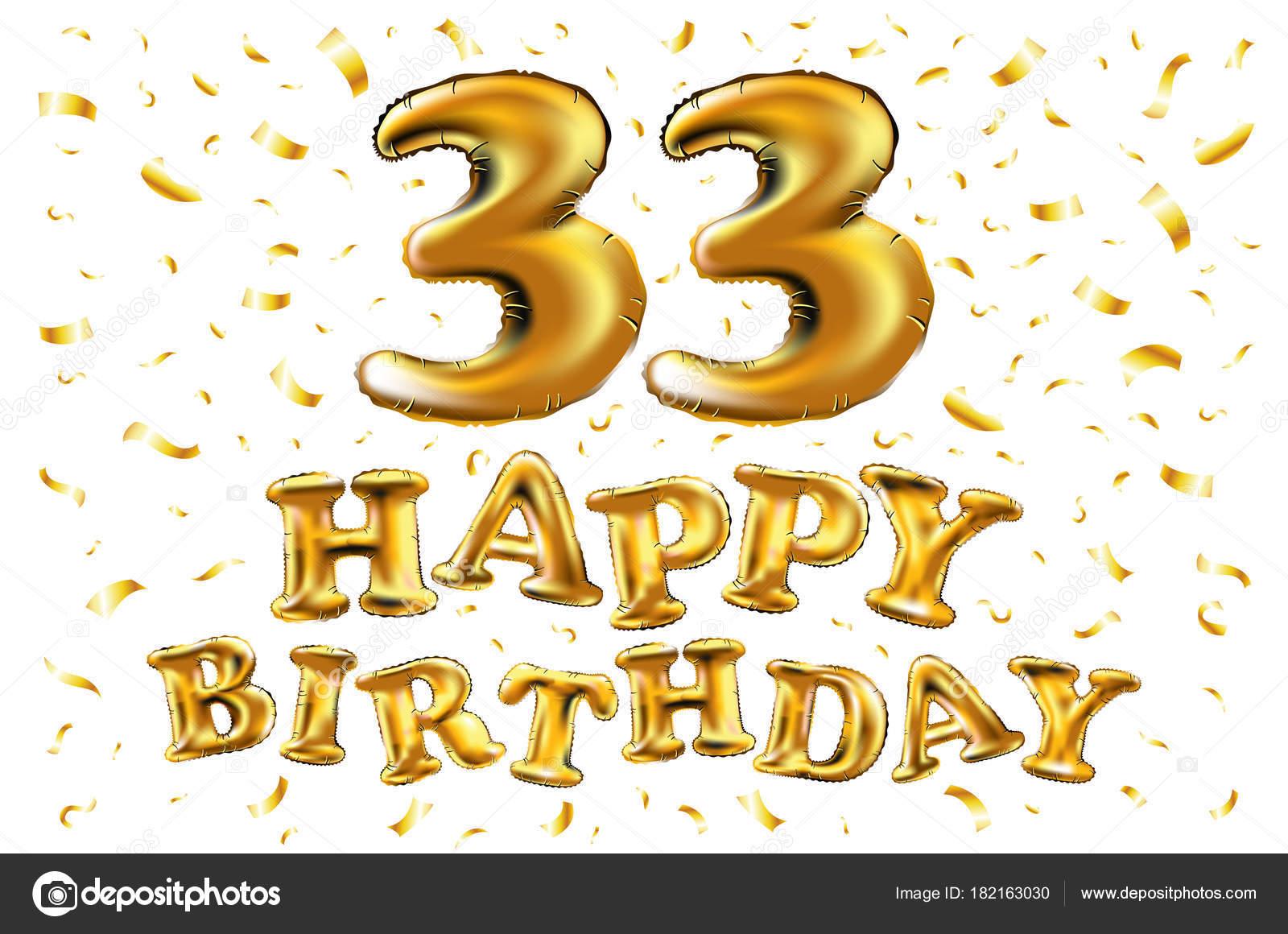 přání k narozeninám 33 Dekorace pro 33 let narozeniny, výročí — Stock Vektor © romanchik  přání k narozeninám 33