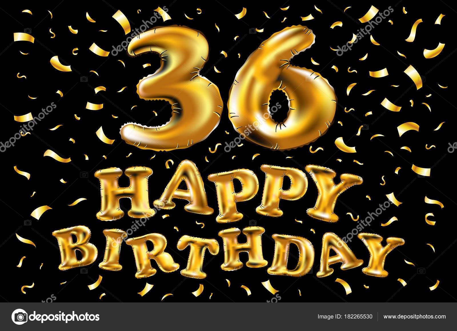 Alles Gute Zum Geburtstag 36 Jahre Freude Jubiläumsfeier 3d