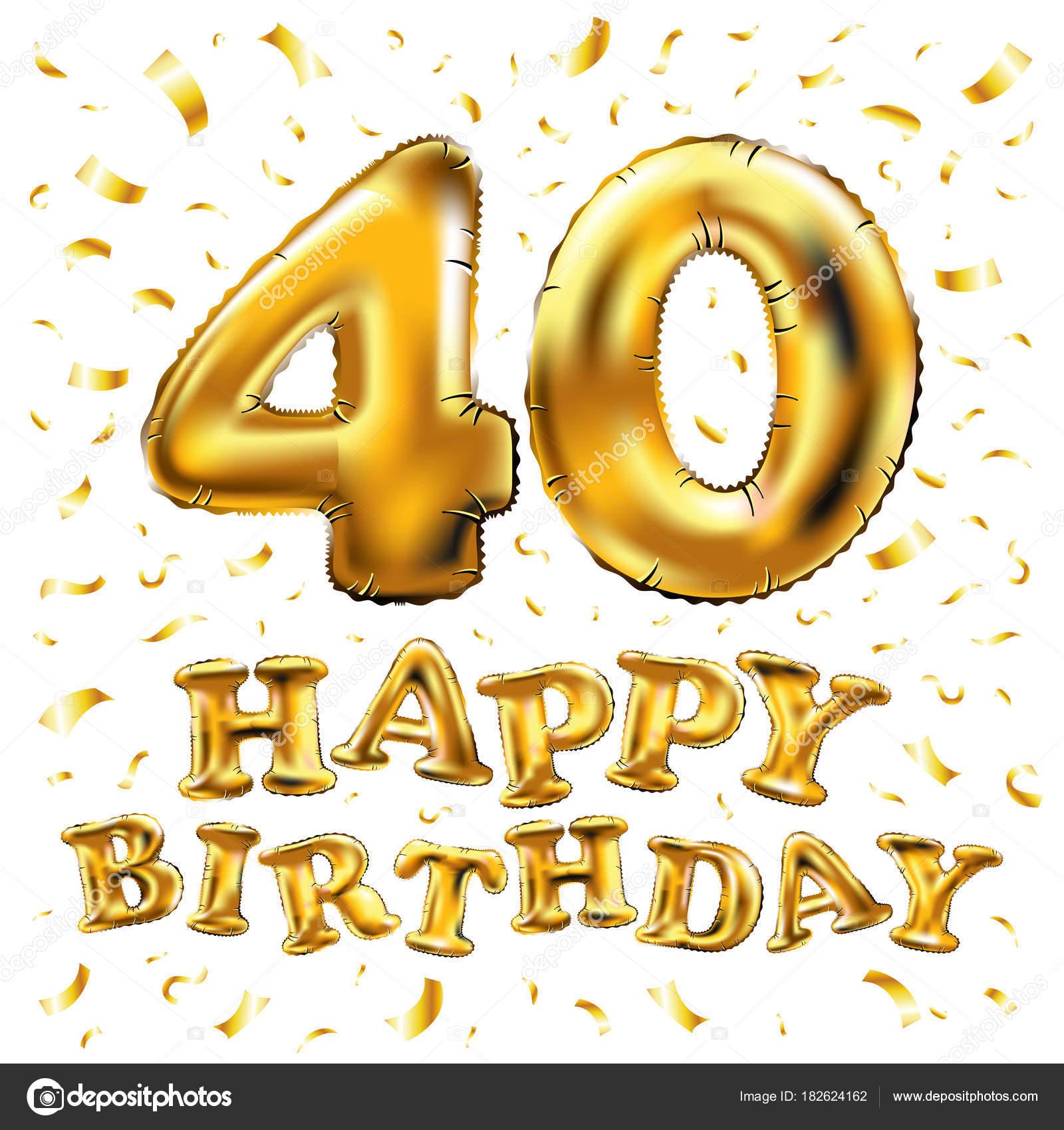Imágenes 40 Cumpleaños Vector De Feliz Cumpleaños 40