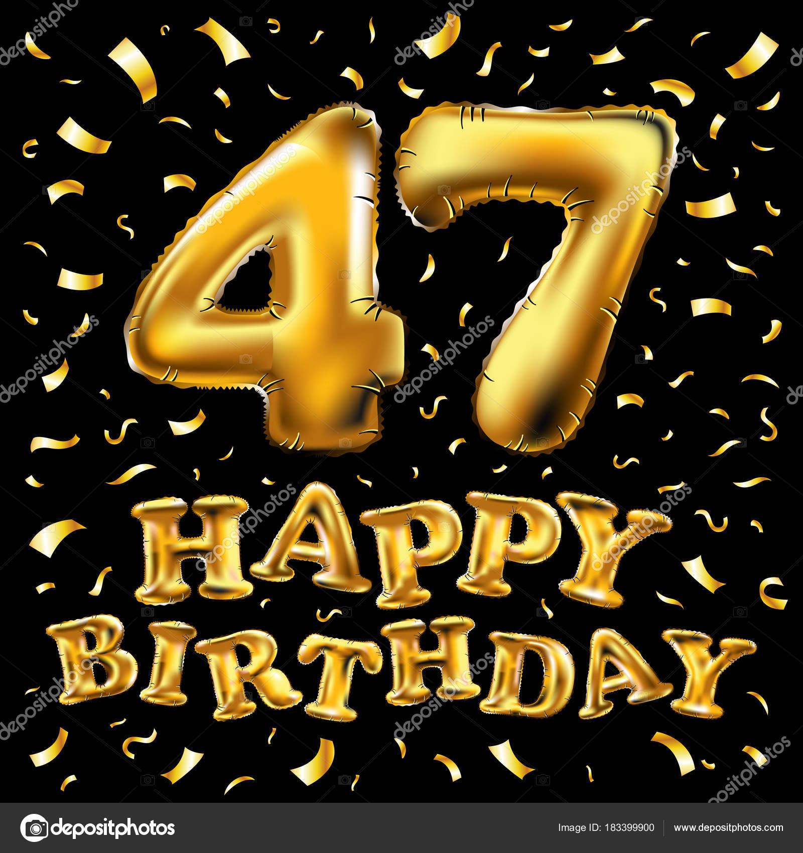 Поздравления с днем рождения 47 года