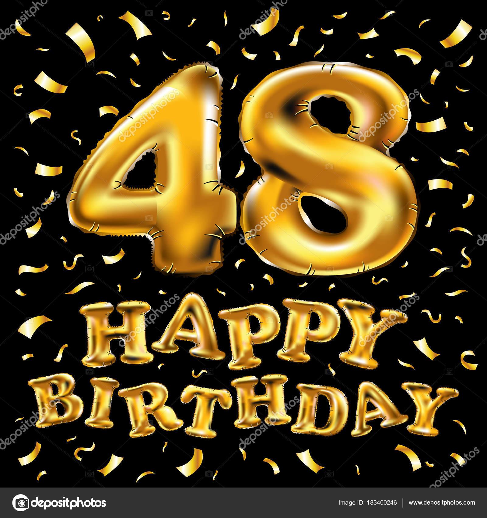 48 Jaar Verjaardag Gouden Hart 48e Verjaardag Decoratieve Gouden