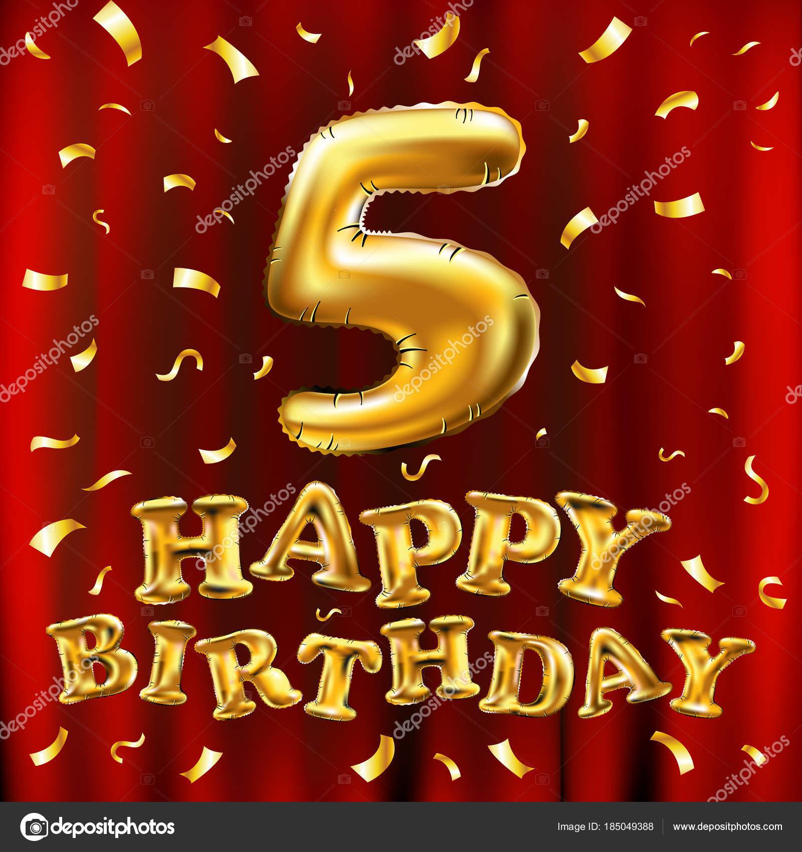 Auguri Buon Compleanno 53 Anni.Vettore Palloncini 5 Vettore Di Buon Compleanno 5 V