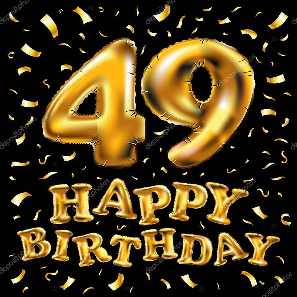 Поздравление с днем рождения в 49 лет