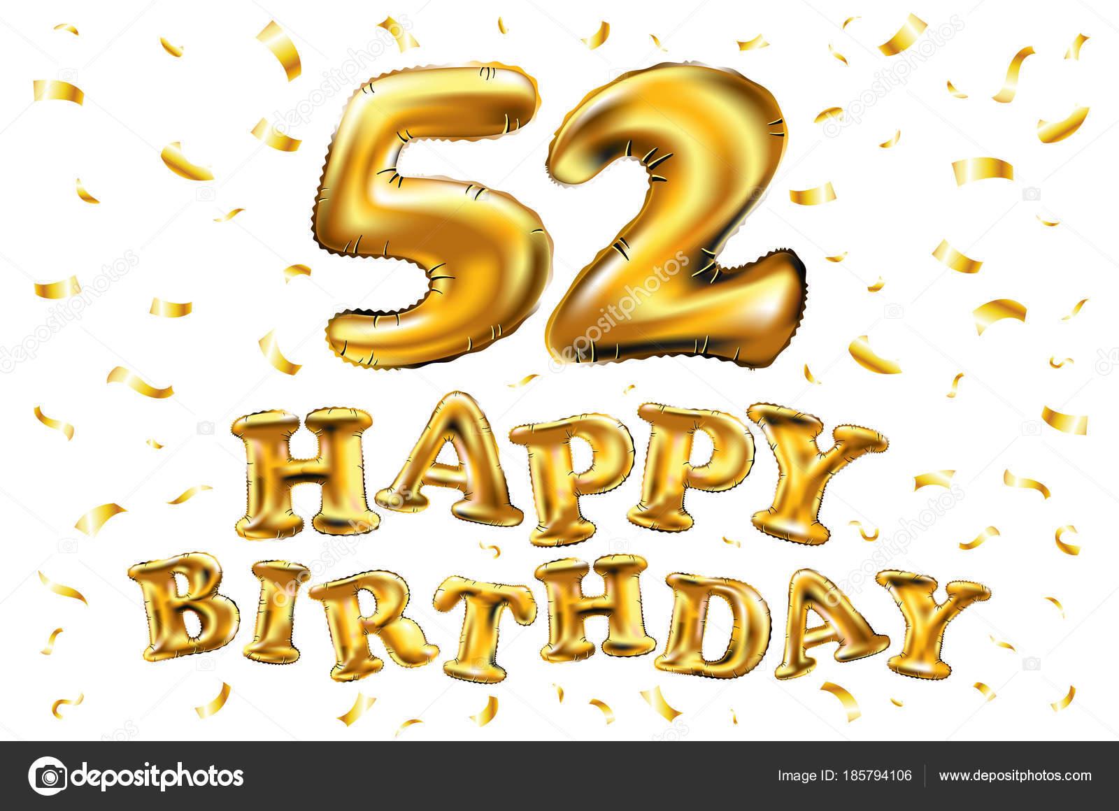 Поздравления день рождения 52 года