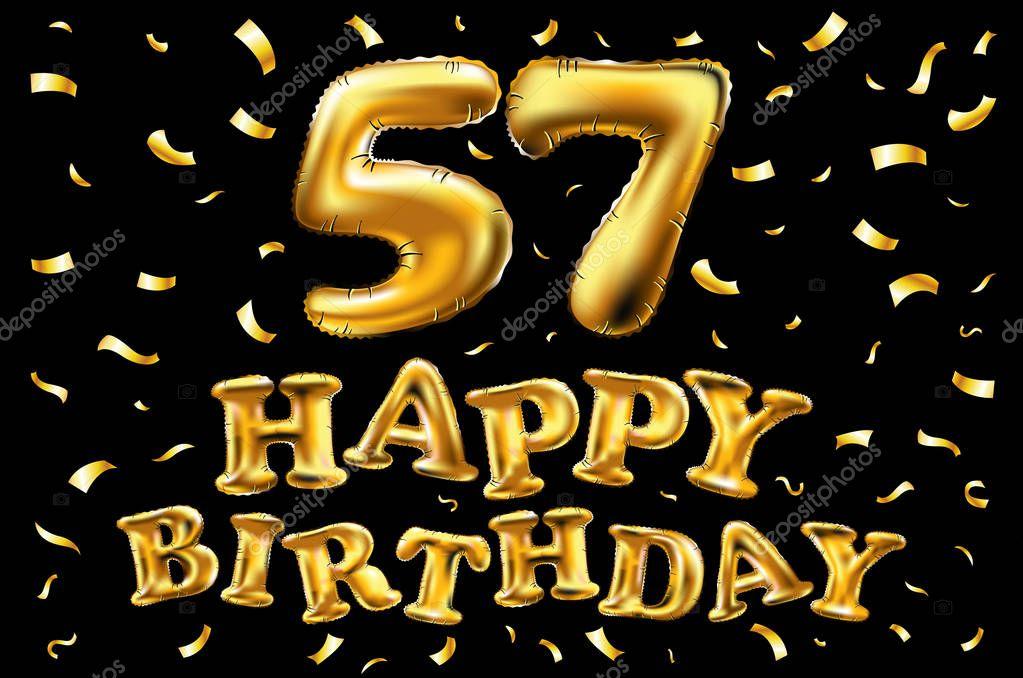 Открытки с днем рождения на 57 лет