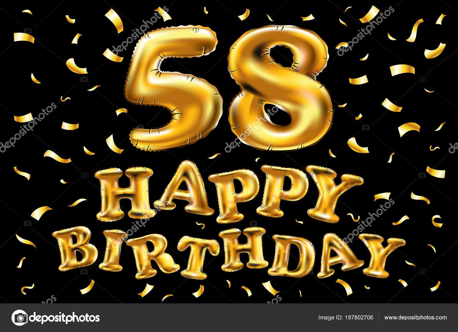 Поздравление с днем 58 летия