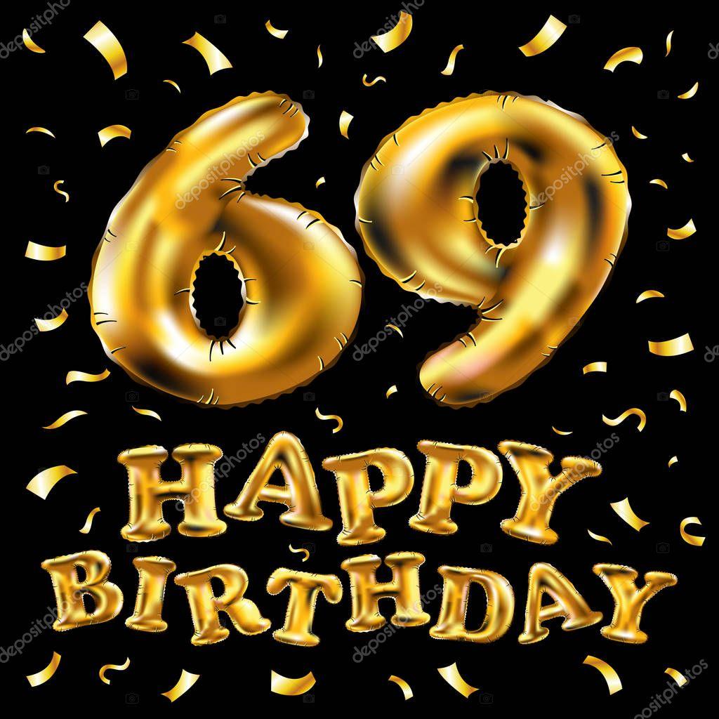Открытка с днем рождения 69 лет, картинки