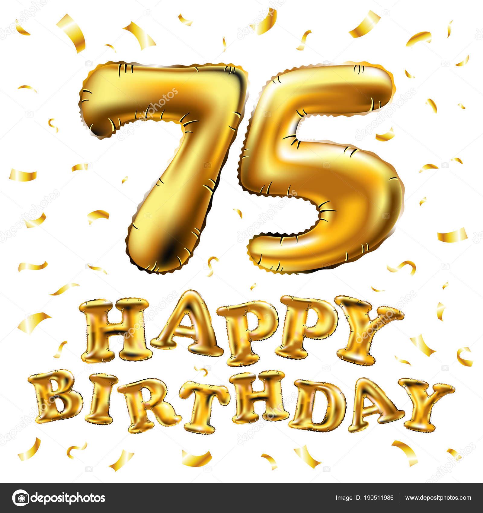 Auguri Di Buon 75 Compleanno.Vettore Di Buon Compleanno 75 Anni Vettore Di Buon