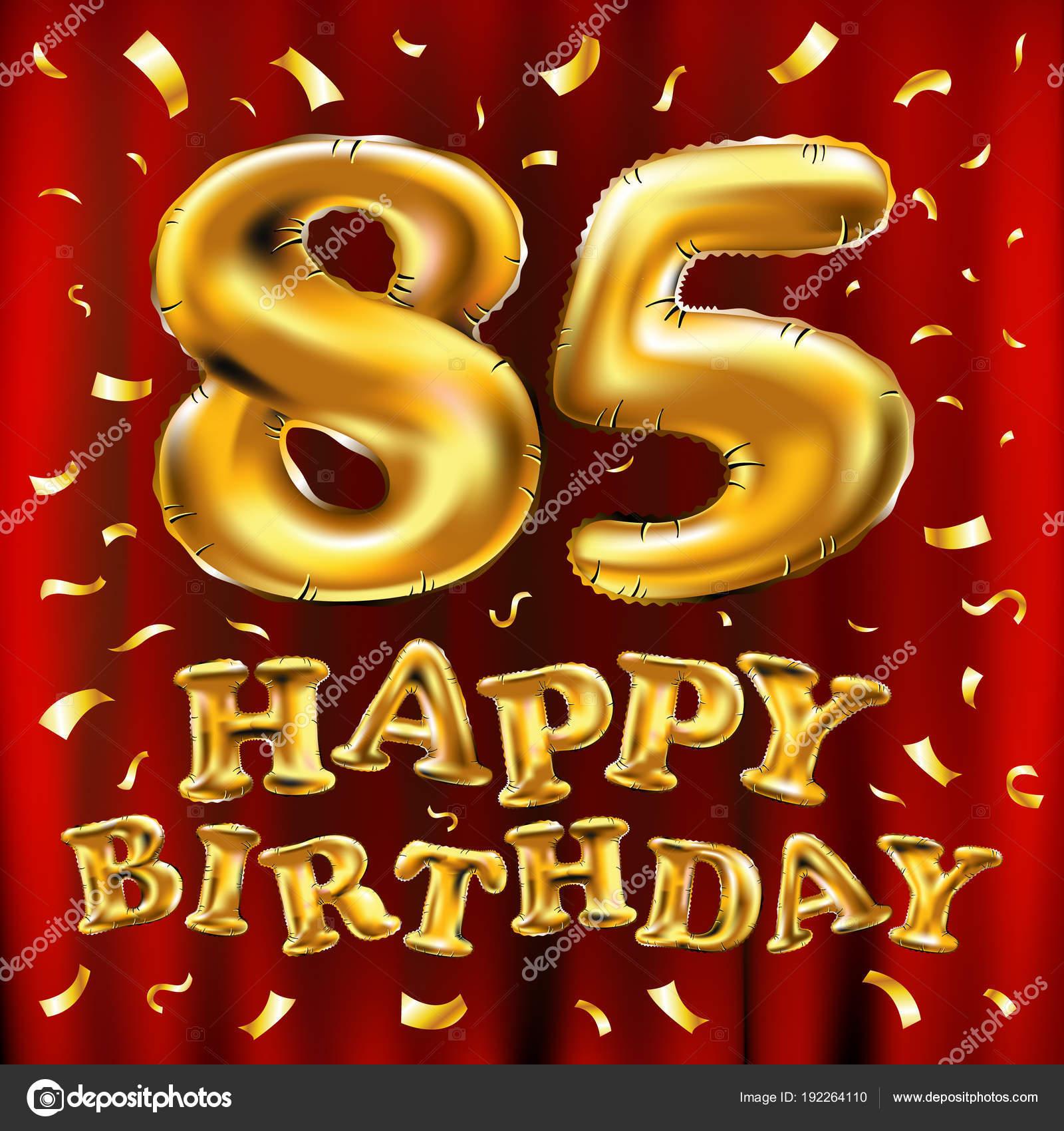 Auguri Di Buon Compleanno 85 Anni.Vettore Buon Compleanno 85 Vettore Di Buon Compleanno 85th