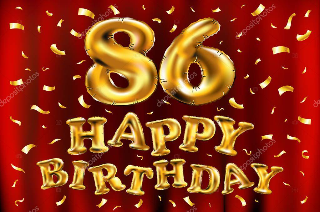 Открытка с днем рождения 86 лет, приглашения юбилей