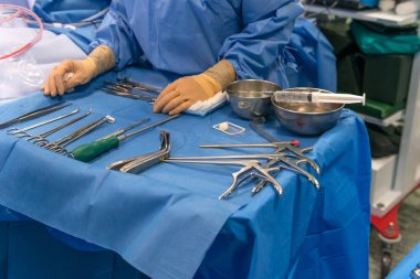 surgical operation in the operating room
