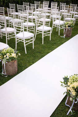 decorated wedding chairs outdoor