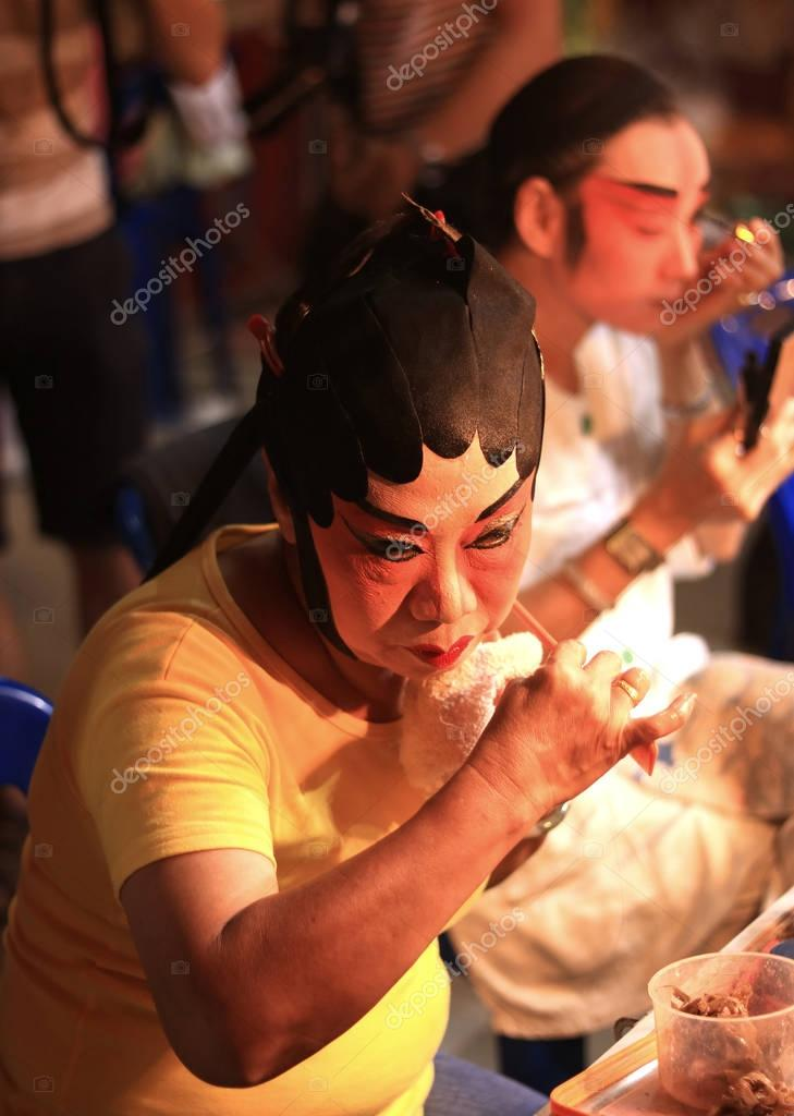 Bangkok, Thailand - October,2016 : Actress prepares for Chinese
