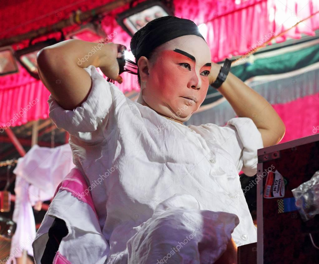 Bangkok, Thailand - October 5, 2016 : Actor prepares for Chinese