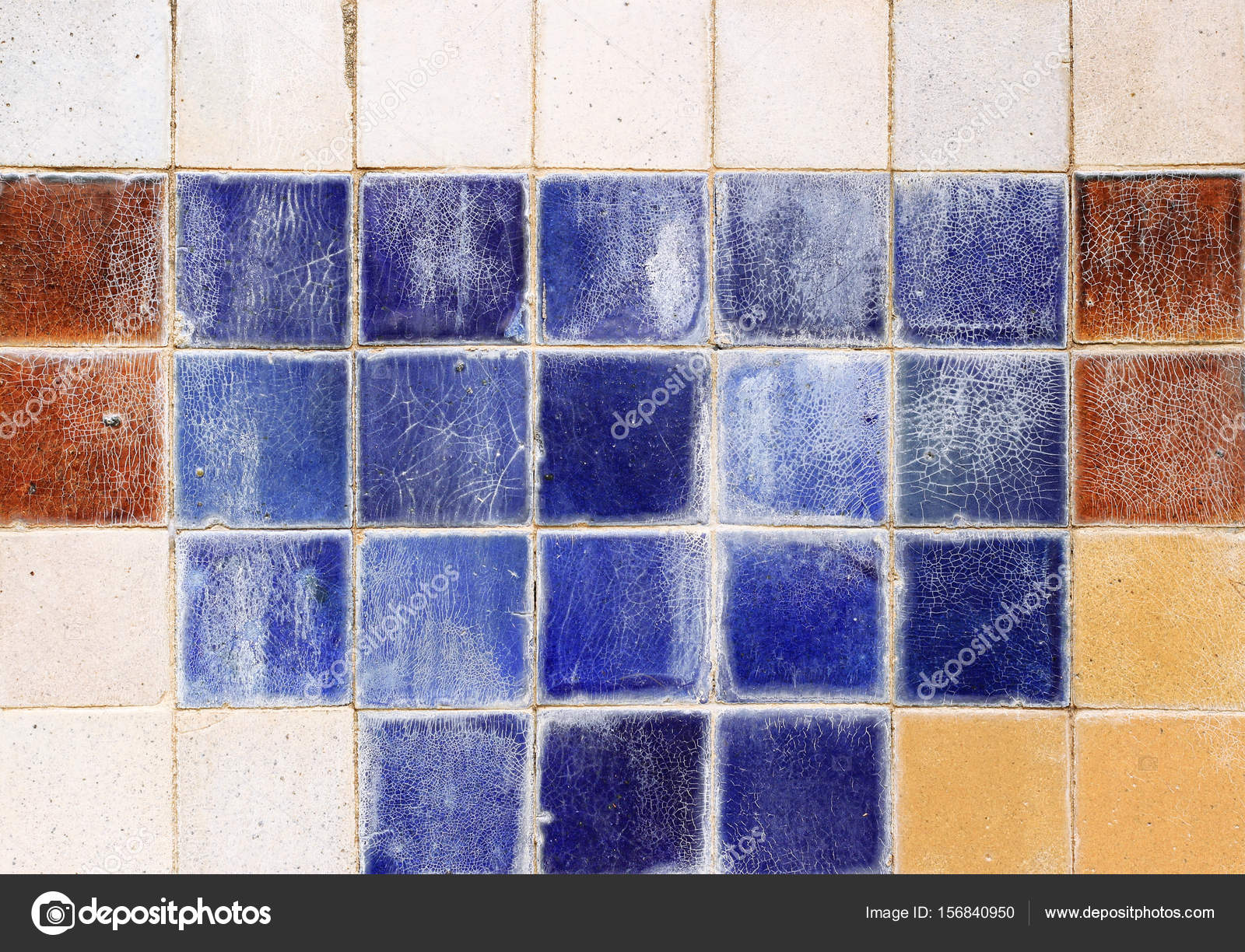 old ceramic brick tile wall — Stock Photo © Gap #156840950