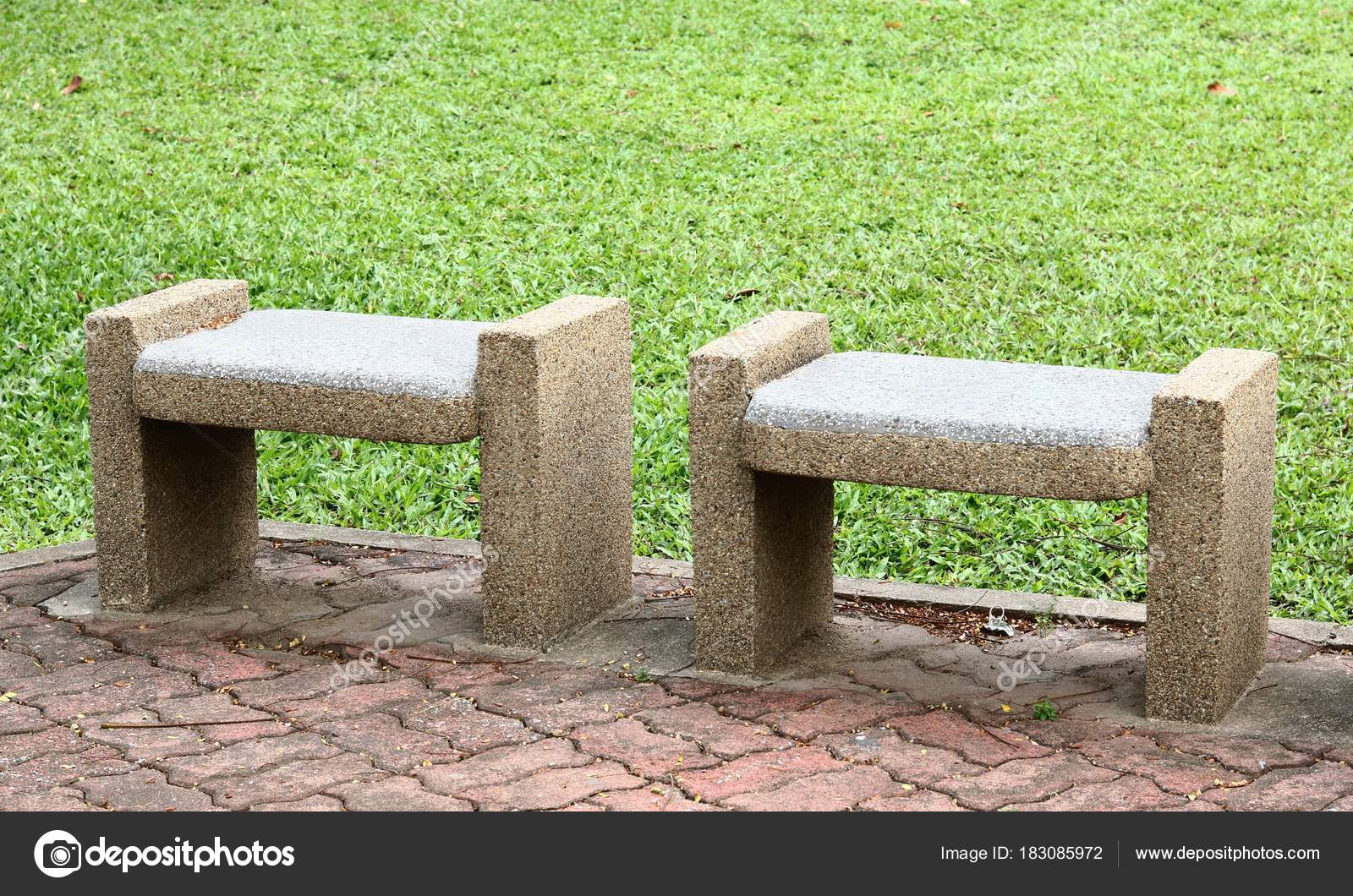 Groovy Stone Benches Seats In The Park Stock Photo C Gap 183085972 Bralicious Painted Fabric Chair Ideas Braliciousco