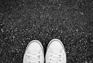 Close up sport shoe