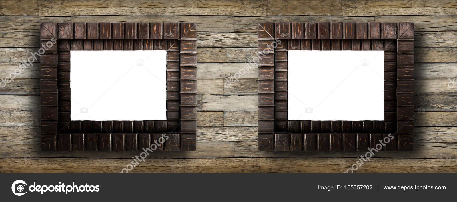 Grunge rustikale Holz Bilderrahmen — Stockfoto © thawornnulove ...