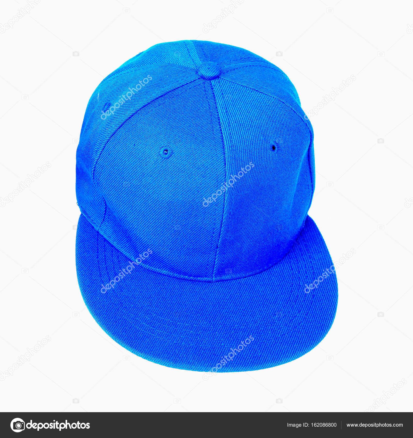 Chiuda in su del berretto da baseball blu isolato su priorità bassa bianca  — Foto di thawornnulove 1ecbb245af49