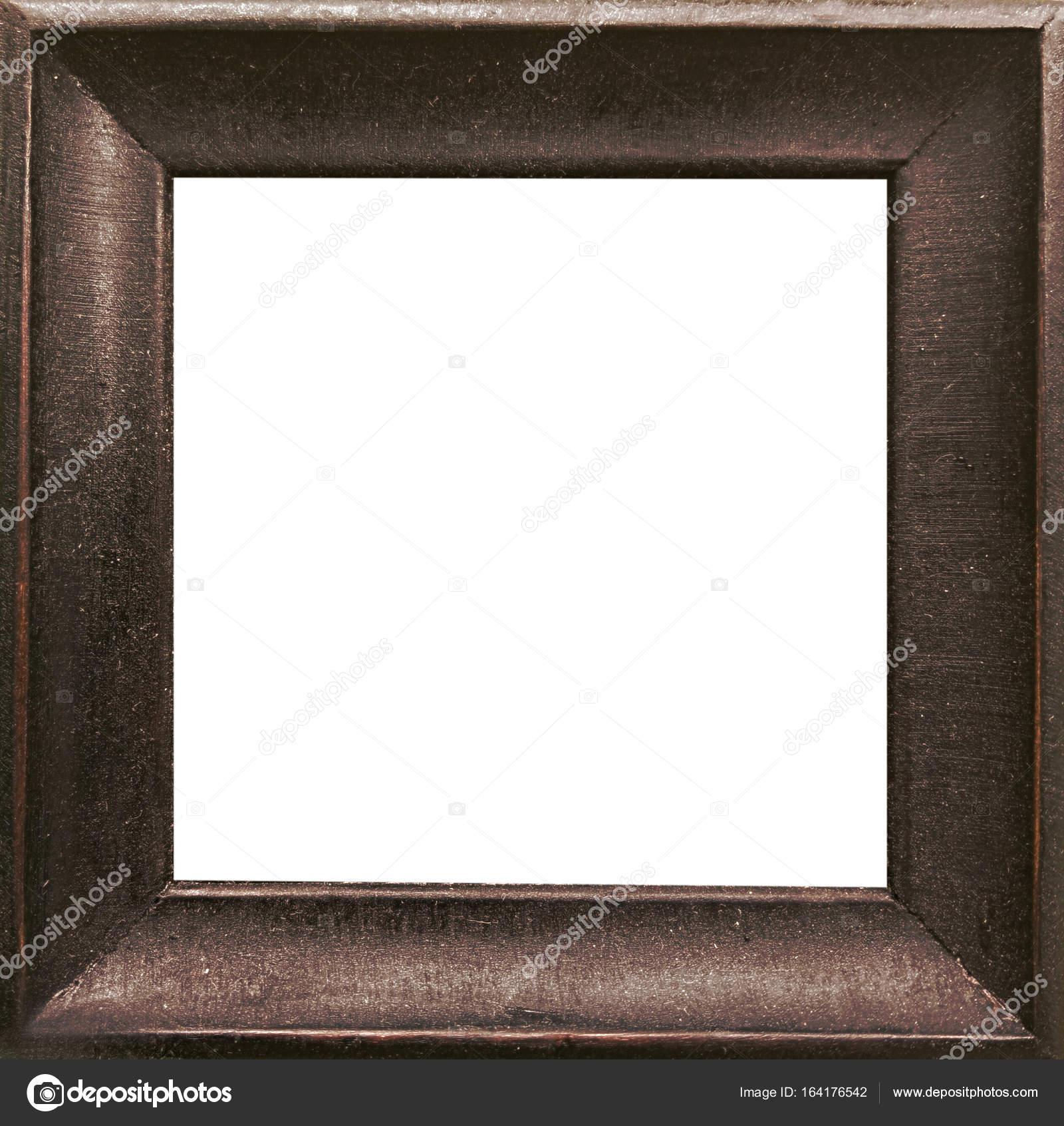 Antiguo grunge marrón rústico marco de madera — Foto de stock ...