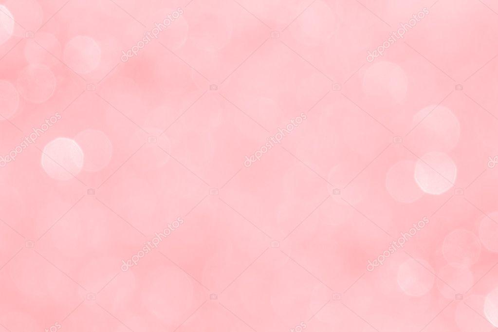 Bokeh Zachte Pastel Roze Achtergrond Met Wazig Gouden