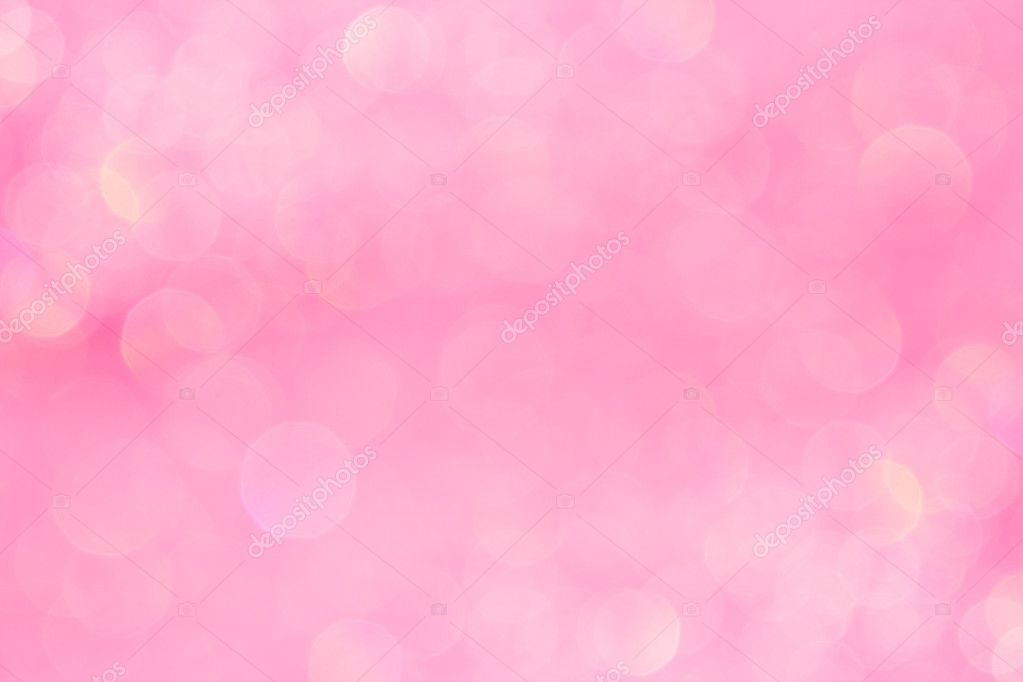 Bokeh Soft Pastel Pink Background With Blurred Golden