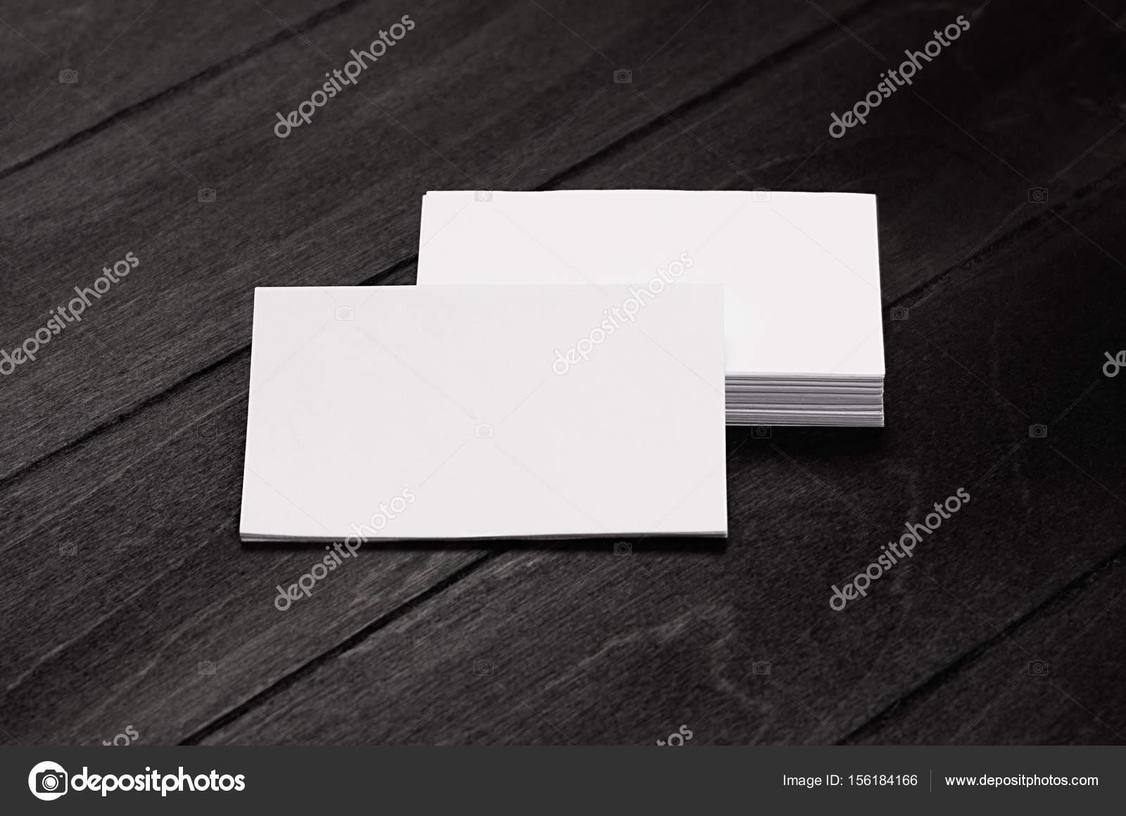 Stapel Leer Unternehmensidentität Visitenkarten Auf