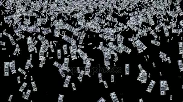 Money rain from dollar bills