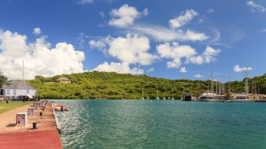 Nelsons Dockyard is a national park on the Caribbean island of Antigua.  It is the only continually working Georgian shipyard in the world.