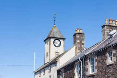 Lauder Town Hall Clock Tower.  The clock tower of Lauder Town Hall is located  in Lauder town centre in the Scottish Borders.