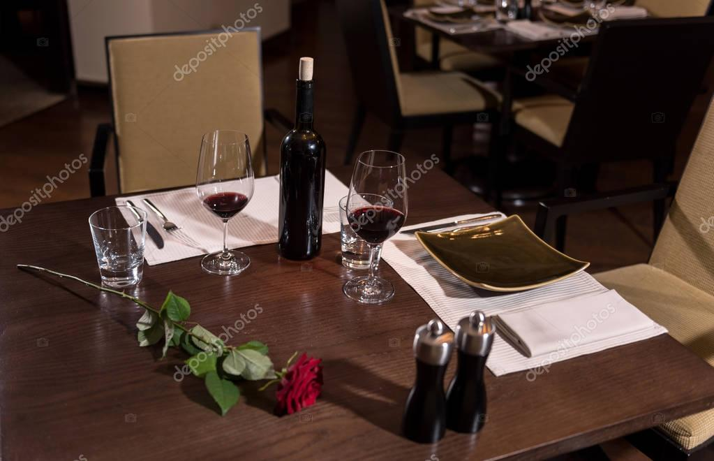 Wonderful Big Table In The Restaurant Stock Photo Yacobchuk - Standing table for restaurant