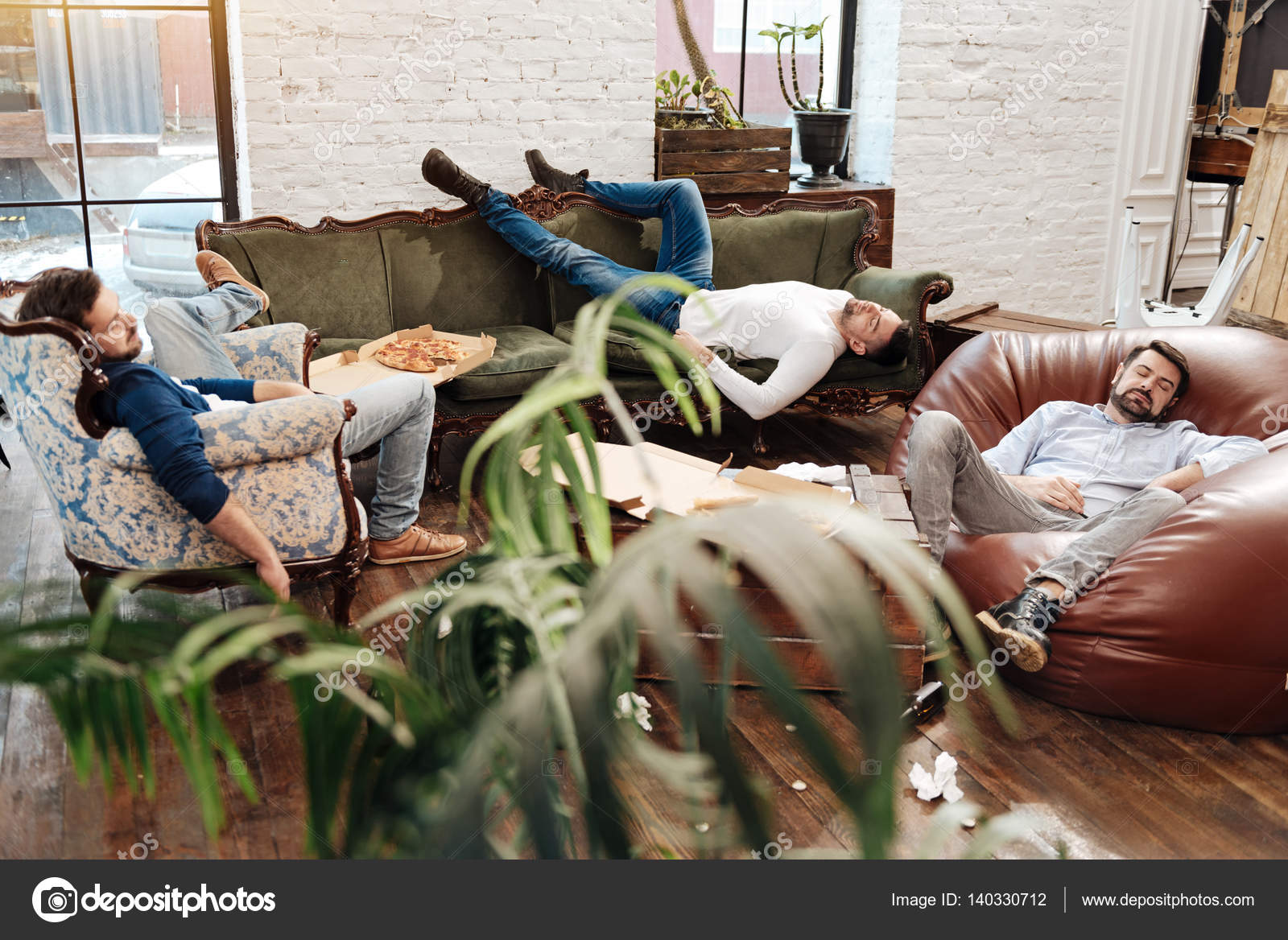 Handsome Attractive Men Sleeping In The Living Room U2014 Stock Photo #140330712 Part 86