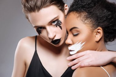 Two magnetic women showing connection of bad and evil