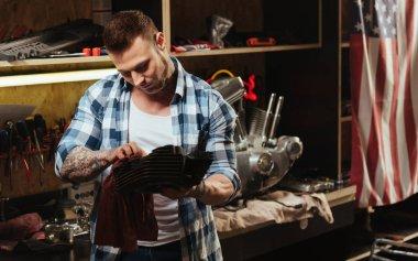 man  polishing detail
