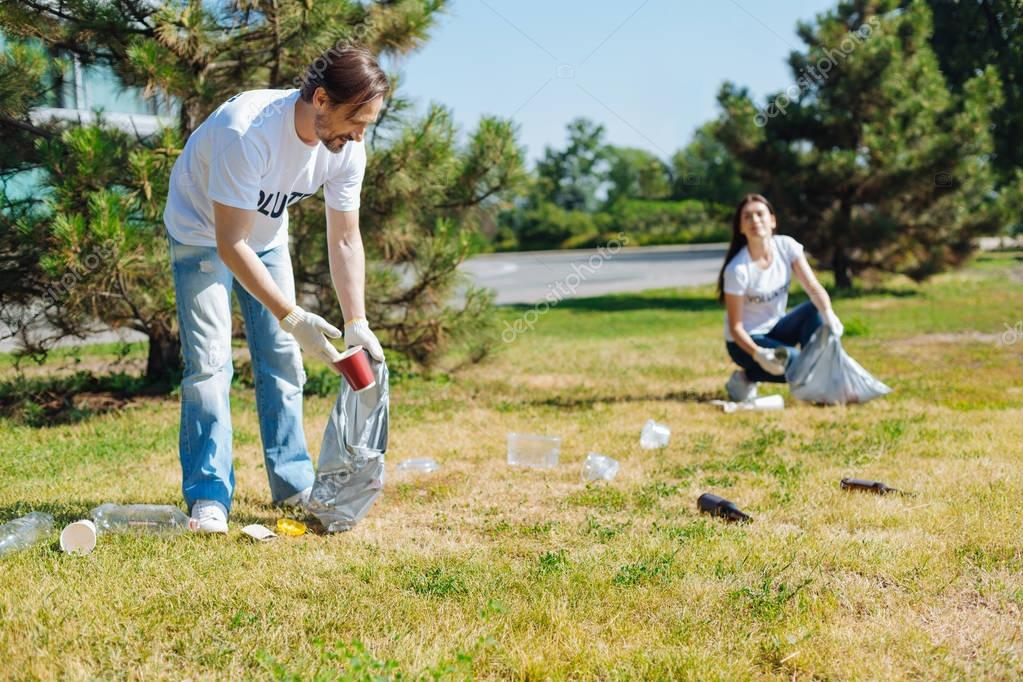 Lively admirable people participating in eco campaign