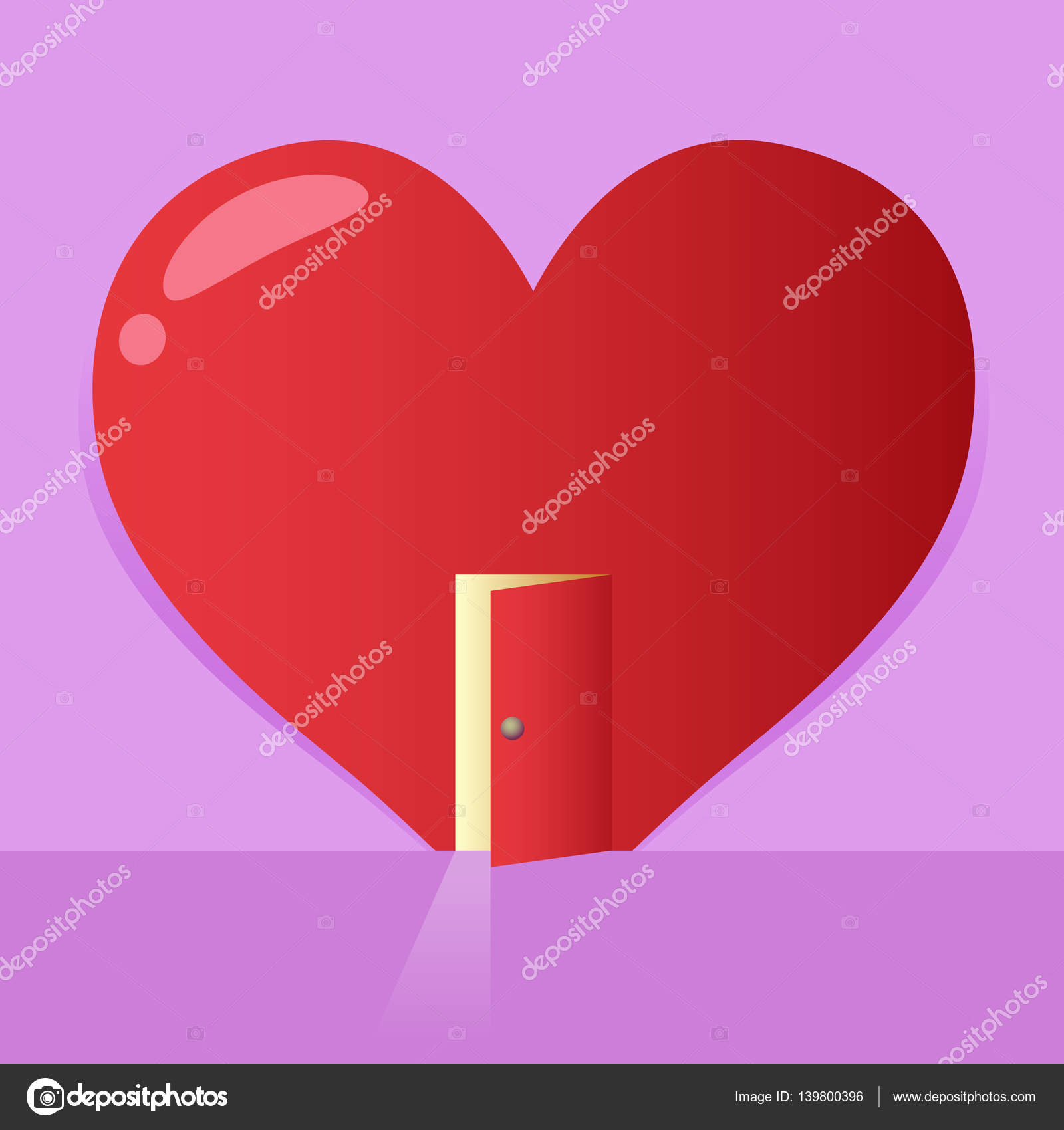 Heart with an opened door stock vector yusakp 139800396 vector stock of a big heart symbol with an open door valentines background vector by yusakp buycottarizona Gallery
