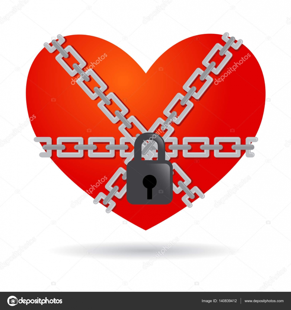 Red heart symbol chained and locked stock vector yusakp red heart symbol chained and locked stock vector biocorpaavc Gallery