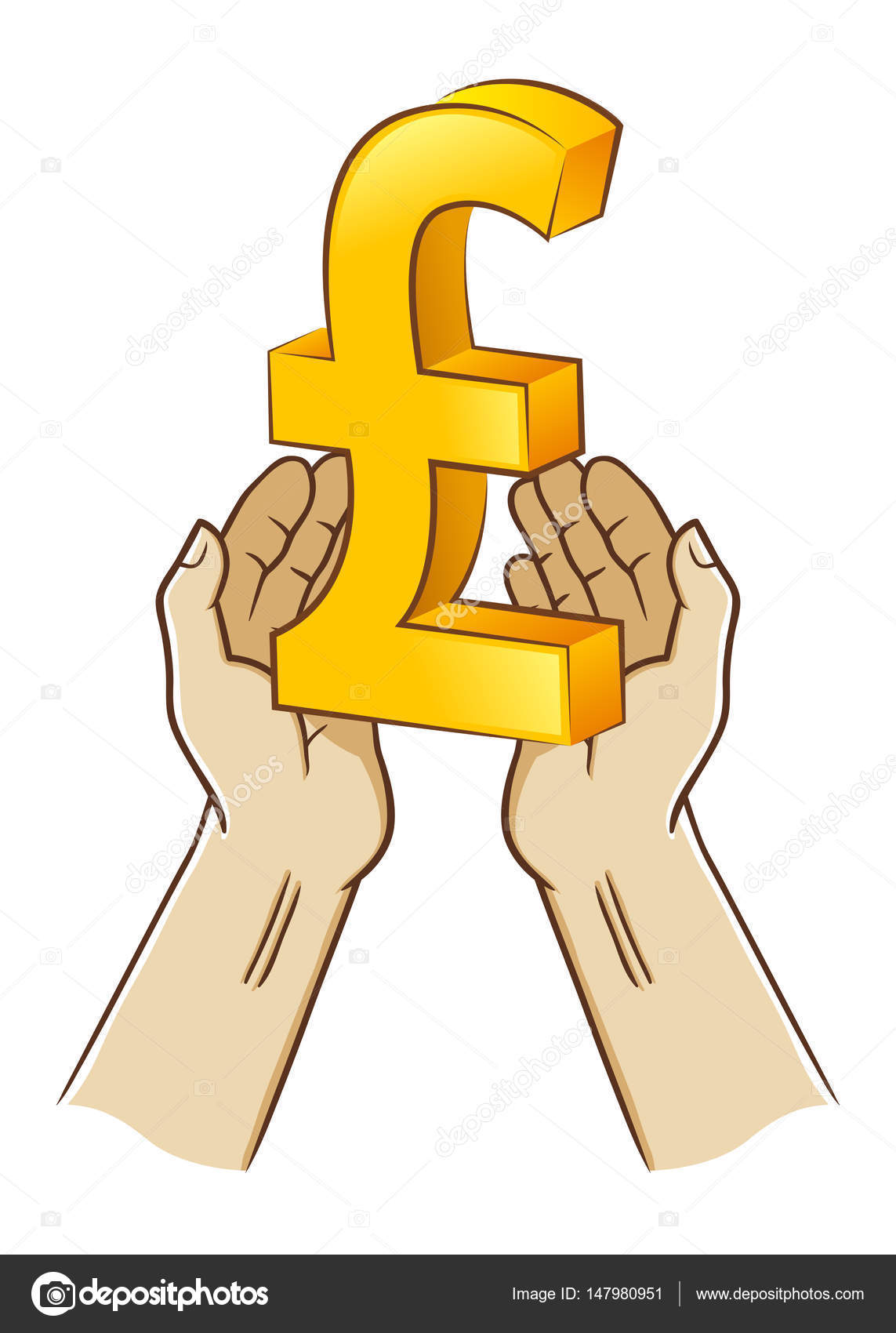 Two hand holding pound sterling currency symbol stock vector two hand holding pound sterling currency symbol stock vector biocorpaavc Gallery
