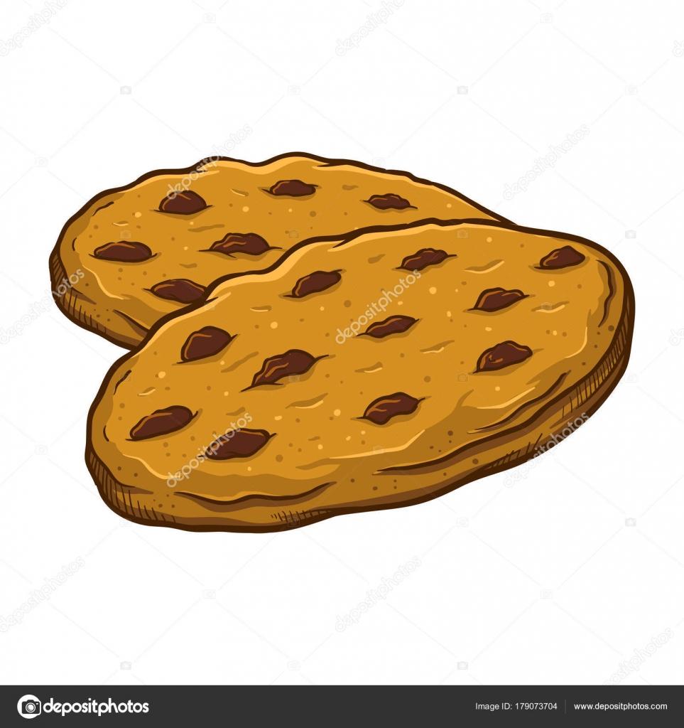 Mano dibuja Chocolate Chip Cookies — Vector de stock © yusak_p ...
