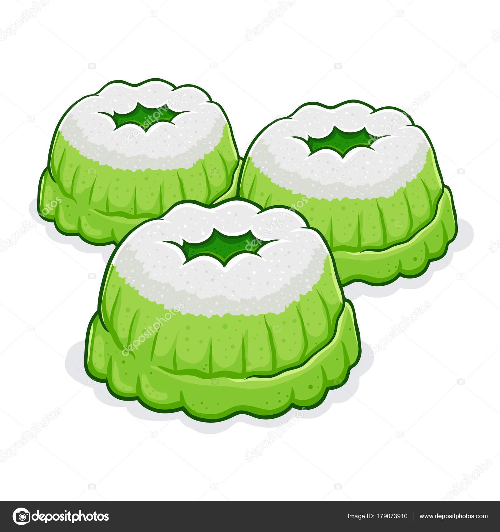 Putu Ayu Indonesian Traditional Cake — Stock Vector