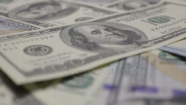 Peníze pozadí na otočný stůl