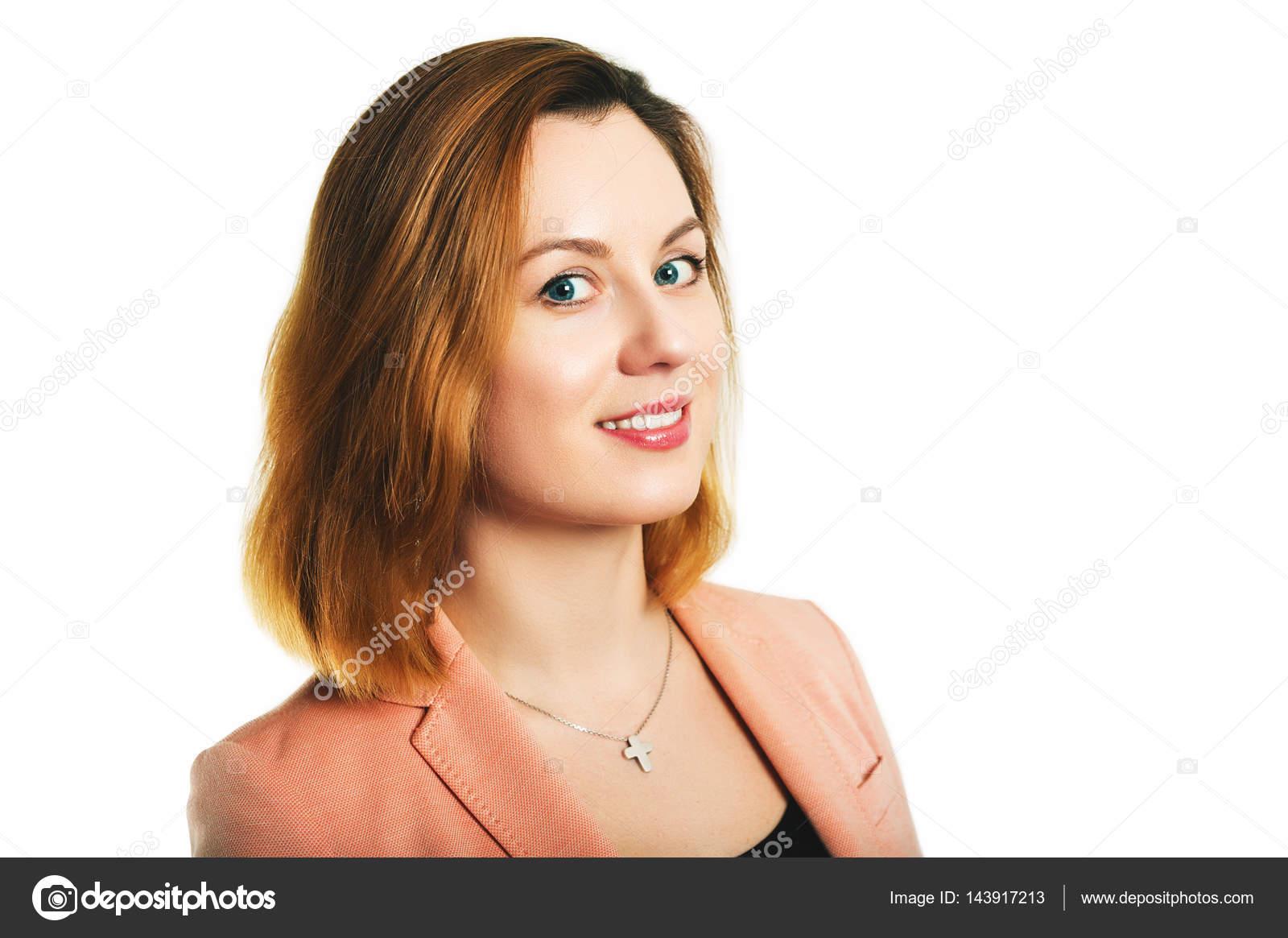 Geschäftsporträt einer 35-jährigen Frau in