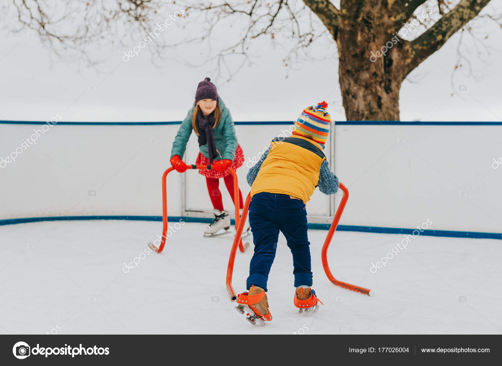 release date timeless design factory price Happy Funny Little Kids Practicing Support Skating Rink ...