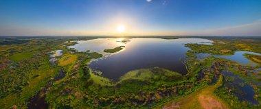 Beautiful lake at sunset