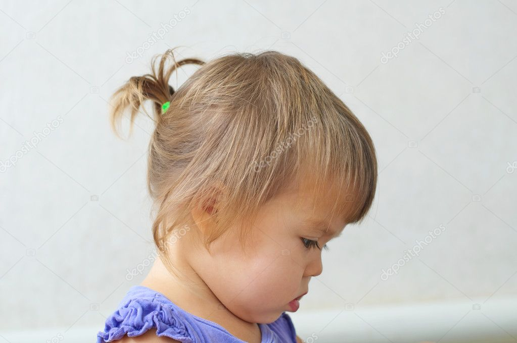 Child Girl First Hair Style Tiny Tail Profile Of Baby Girl Ch