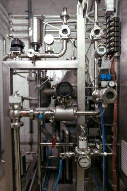 Close up of brewing mechanisms